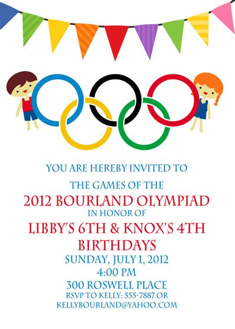 olympic invitation template olympic invitation olympics birthday by peachymommy