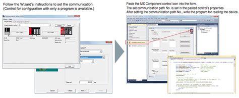 Mitsubishi Software mx component mitsubishi software
