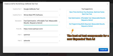 How Optmyzr Helps With Migration And Management Of Expanded Text Ads Optmyzr Blog Expanded Text Ads Template