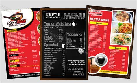 desain kartu nama warung makan jasa desain menu warung makan jasa desain grafis jogja