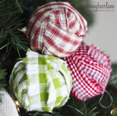 make fabric wrapped bulb christmas ornaments dollar