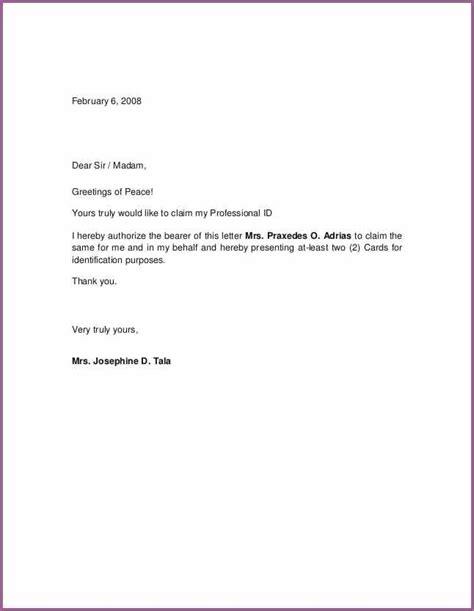 authorization letter format exles authorization letter sle designproposalexle