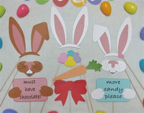 etsy printable photo booth props pdf easter photo booth props decorations craft by