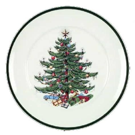 cuthbertson christmas tree green trim wide band china