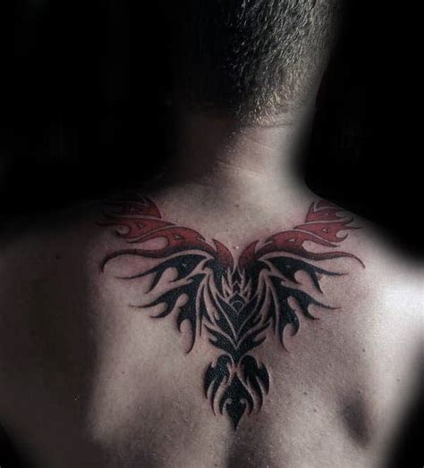 phoenix tattoo neck 40 tribal phoenix tattoo designs for men mythology ink ideas