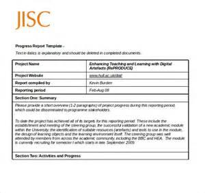 Reporting Sample 12 Progress Report Templates Free Sample Example