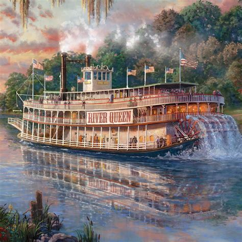 river queen  limited edition canvas thomas kinkade
