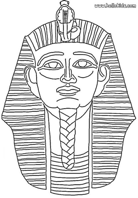 Pharaoh Mask Coloring Pages Hellokids Com Pharaoh Coloring Pages