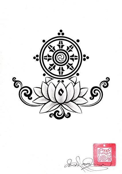 dharma wheel tattoo dharma wheel ideas
