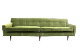 Mid Century Sofa Gorgeous Green Velvet Mid Century Modern Sofa At 1stdibs