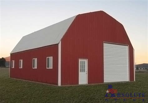gambrel barn kits building horse barn on slope joy studio design gallery