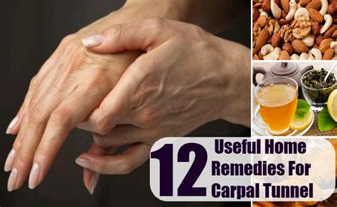carpal tunnel home remedies treatments cure