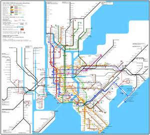 New York City Metro Map by Detailed Nyc Subway Map Bing Images