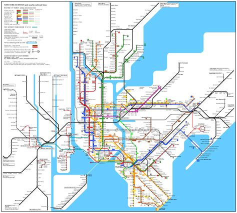 map new york city large detailed subway map of new york city the usa new york city large detailed subway map