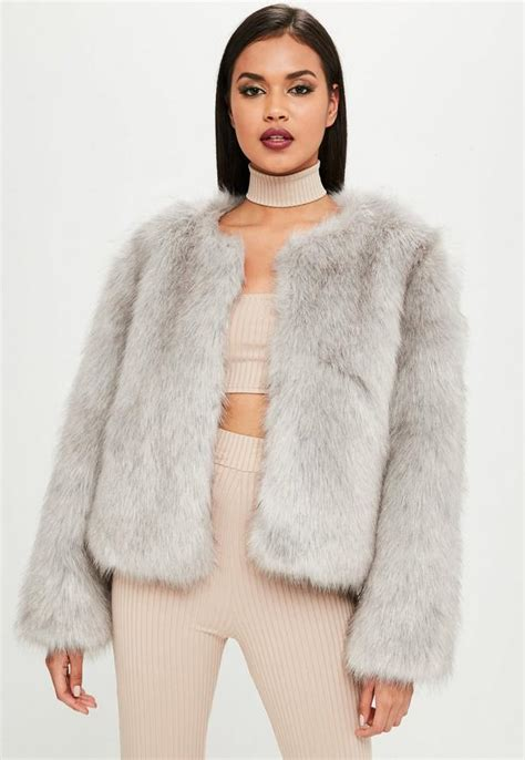 Fur Jacket carli bybel x missguided grey faux fur jacket missguided