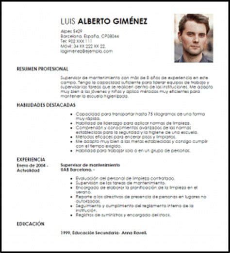 Modelos Ya Hechos De Curriculum Vitae Modelo Curriculum Vitae Supervisor De Mantenimiento Livecareer