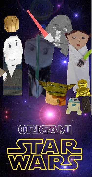 superfolder chris origami wars poster origamiyoda