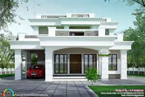 Flat Roof House Design by 2813 Sq Ft Flat Roof Box Type Home Homes Design Plans