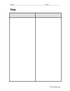2 column word template blank 4 column notes form freeology