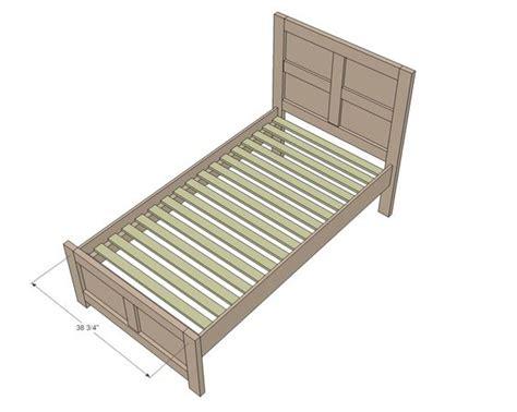 Simple Bed Frame Plans Beds And Bed Frames On Pinterest