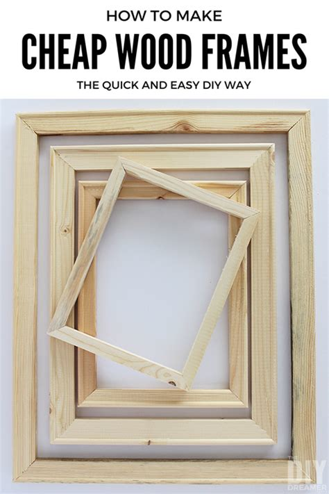 How To Make A Picture Frame Out Of Paper - how to make cheap wood frames the and easy diy way