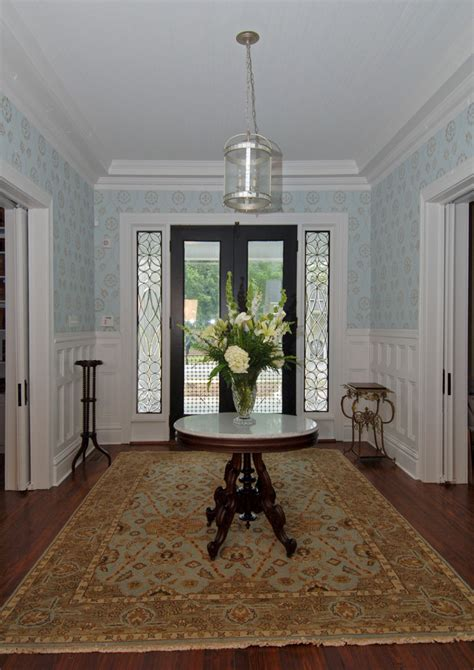 Traditional Foyer Decorating Ideas Foyer Tables Traditional With Recessed Lighting Entry