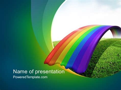 template ppt free download rainbow rainbow bridge powerpoint template by poweredtemplate com