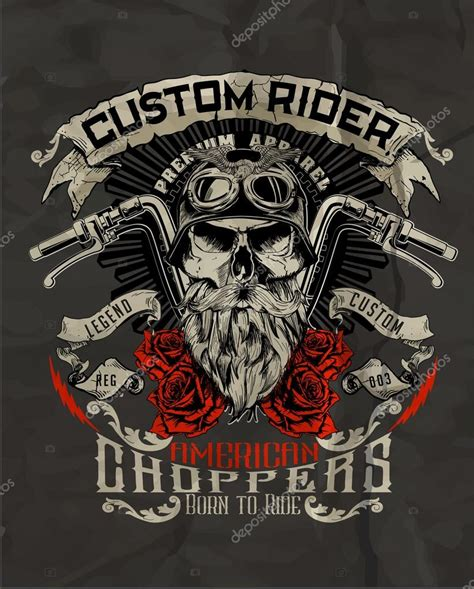 vintage biker skull stock vector 169 swsctn80 hotmail com