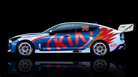 kia supercar kia stinger in the supercars mix car news carsguide