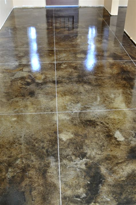 stained concrete floors for the home