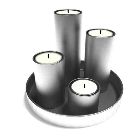 Silver Candle Tray by Silver Candle Tray 3d Model Cgtrader