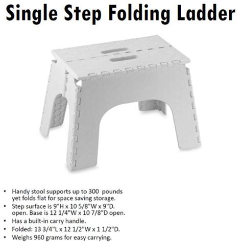 Ansi Approved Step Stools by Folding Ladder