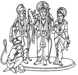 lord rama and sita maa with laxman and lord hanuman diwali