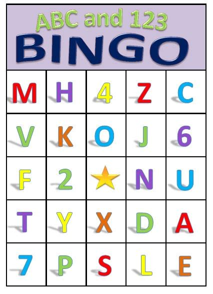 printable alphabet bingo abc 123 bingo for preschoolers printable download