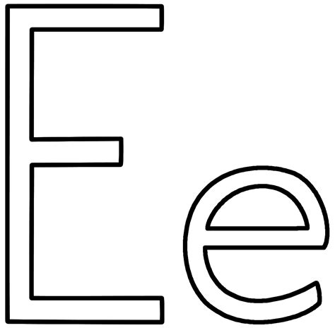 E Coloring Page Printable by Letter E Coloring Page Alphabet