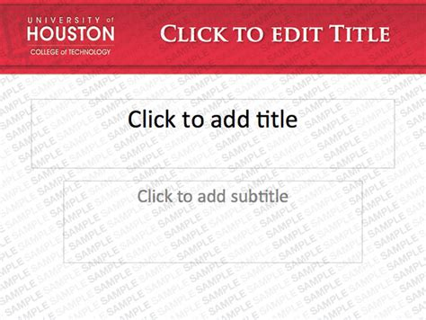 powerpoint template university of houston