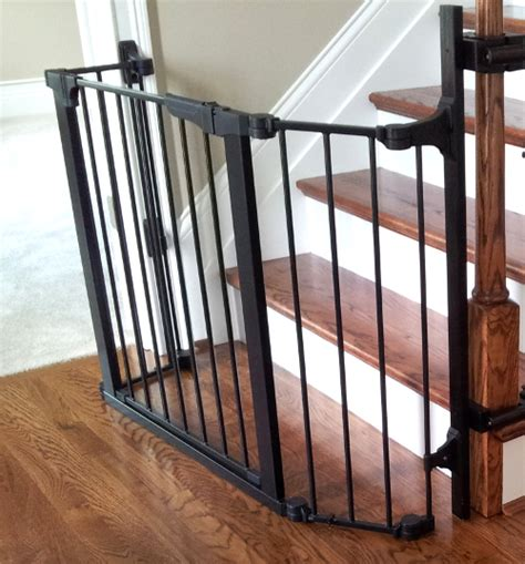 baby gate for top of stairs with banister and wall gate for bottom of stairs newsonair org