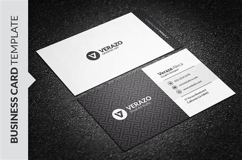 Elegant Black White Business Card Business Card Templates Creative Market Black And White Card Templates