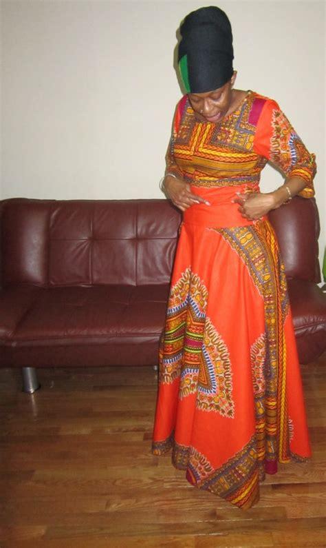 Dashiki Print Maxi Dress Afri Ee  Fashion Ee   Ankara Kitenge