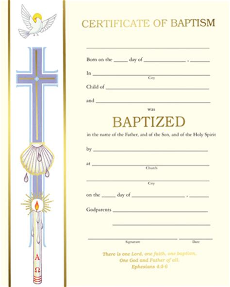 catholic baptism certificate template baptism banner baptism certificate