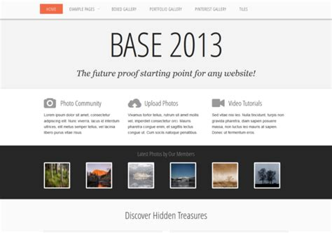 base 2013 responsive html5 themes templates