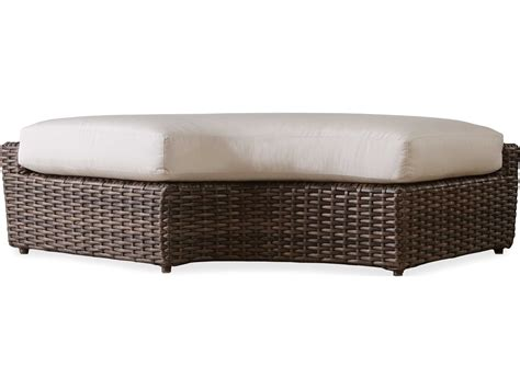 curved garden bench cushions lloyd flanders largo wicker left curved bench 241039