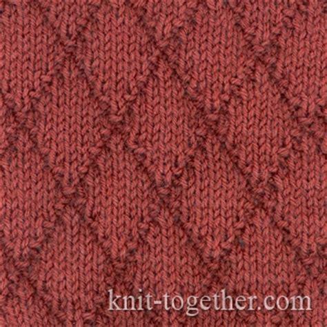 diamond pattern in knitting knit together diamonds pattern 1 with needles knitting