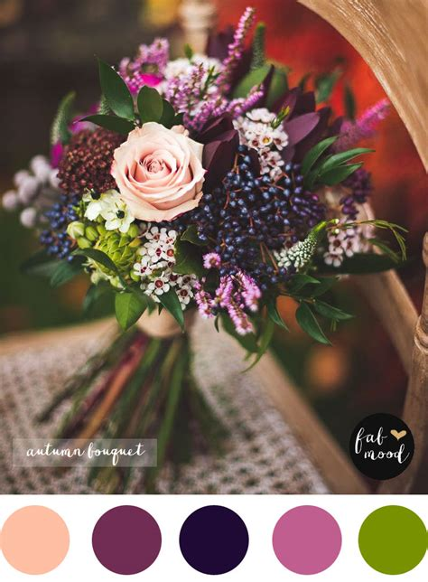 Fall Flower Wedding Arrangements by Magnificent Autumn Wedding Bouquets Purple Wedding