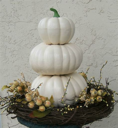 white pumpkin decorations white decorated pumpkins images