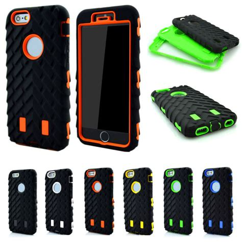 Iphone 6 6s Plus Armor Casing Sarung Big Velvet Imut 3 in 1 combo 3d tire shockproof for iphone 7 plus 6 6s 5 5s se pc silicone rugged grain
