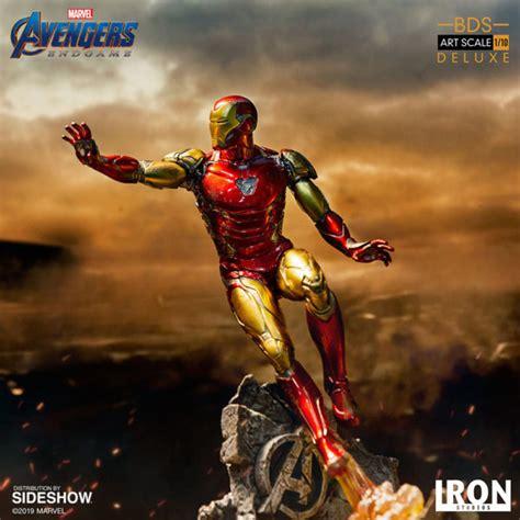 iron man avengers endgame battle diorama statue unveiled