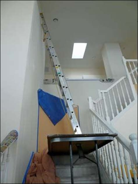 diy painted stairs stairs   folded legs