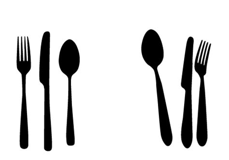 Kitchen Forks And Knives Free Spoon Knife And Fork Vectors For Your Kitchen Designs Silhouette Clip Pinterest