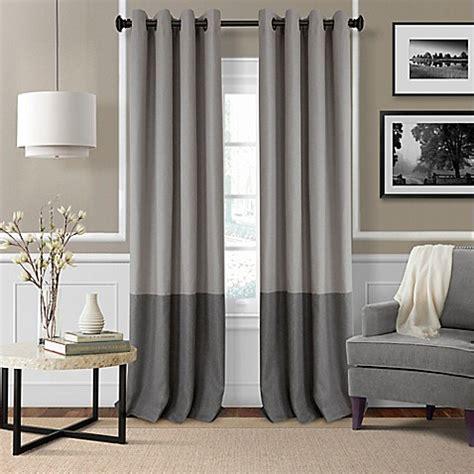 room darkening grommet curtains elrene braiden grommet top room darkening window curtain panel www bedbathandbeyond